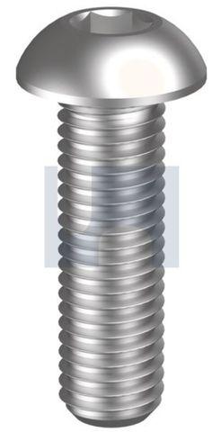1/4X3/4 UNC Button Head Socket Screw