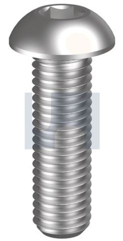 M10X25 Button Head Socket Screw Z/P