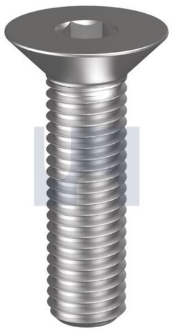 M10X25 Flat Head Socket Screw Z/P