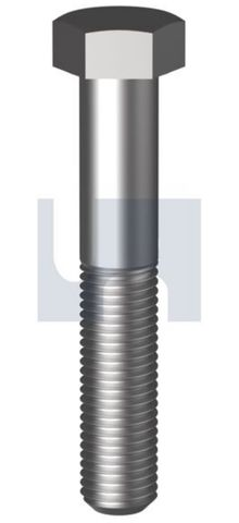 M10X25 1.25P Hex Bolt CL8.8