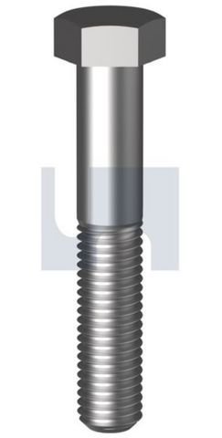M10X140 Hex Bolt CL8.8 Z/P
