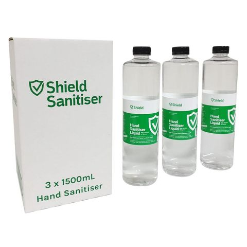 Sterling Shield Hand Sanitiser 1.5L 3P