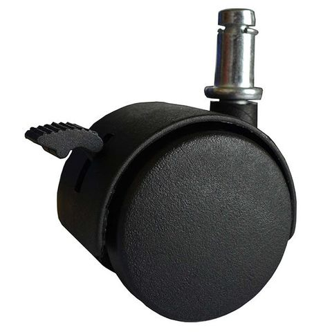(2) Twin Wheel Friction Stem Castors Wit