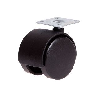 (2) Twin Wheel Plate Castors