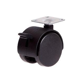 (2) Twin Wheel Plate Castors with Brake