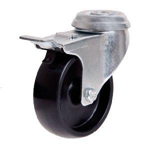 100mm Nylon Wheel 70kg Capacity W/Brake