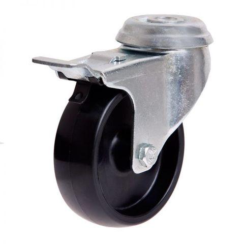 75mm Nylon Wheel 50kg Capacity W/Brake