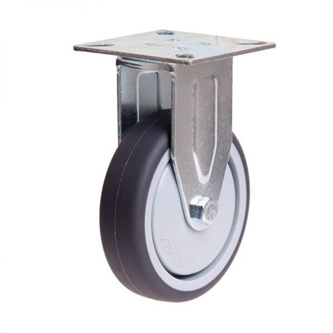 100mm Rubber Wheel 70kg Capacity Castor