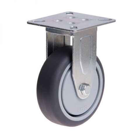 75mm Rubber Wheel 50kg Capacity Castor