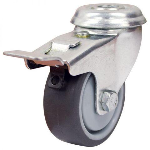50mm Rubber Wheel 30kg Capacity W/Brake