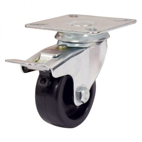 50mm Nylon Wheel 30kg Capacity W/Brake