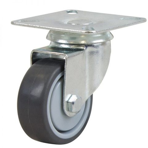 50mm Rubber Wheel 30kg Capacity Castor