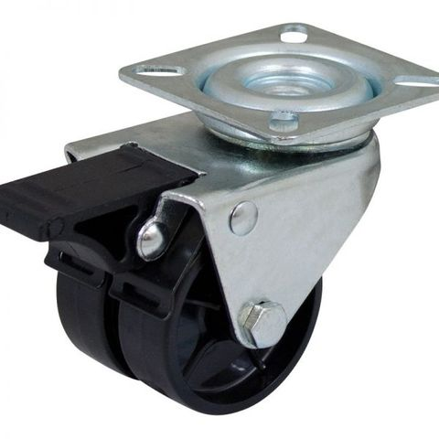 50mm Nylon Swivel Twin  Plate W/Brake