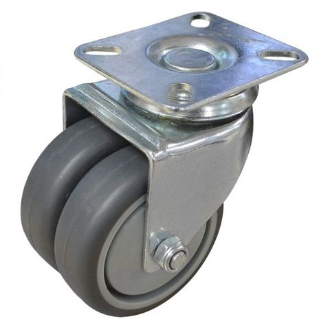 75mm Rubber Swivel Twin  Plate