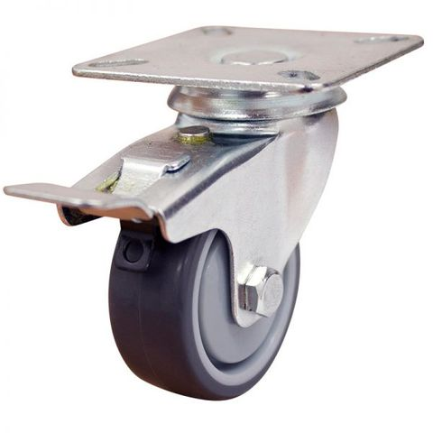 50mm Rubber Wheel 30kg Capacity W/Brake