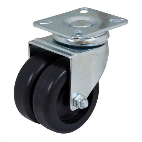 75mm Nylon Swivel Twin  Plate