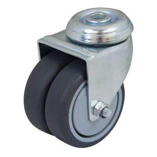 Utility Series Bolt Twin Wheel Castors