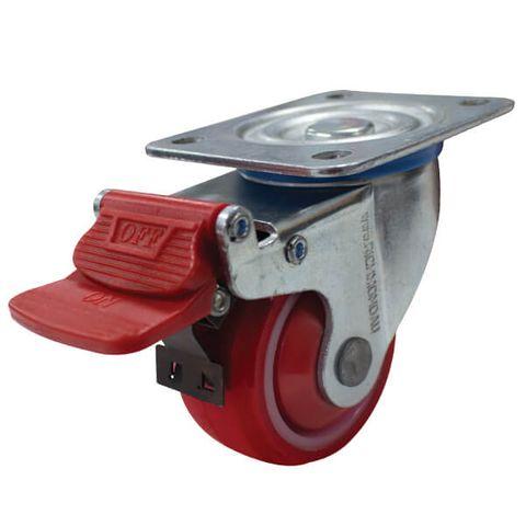 80mm Poly/Nylon Wheel 125kg W/Brake