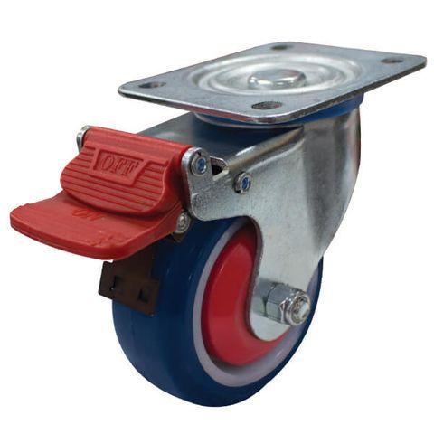 100mm Rebound Rubber Wheel 150kg W/Brake
