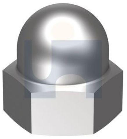 1/4 UNC Dome Nut Chrome