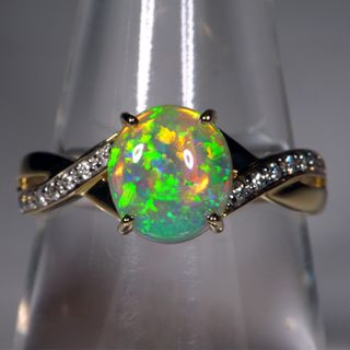 14K Yellow Gold Crystal Opal Ring