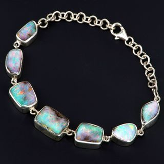 Sterling Silver Boulder Opal Bracelet