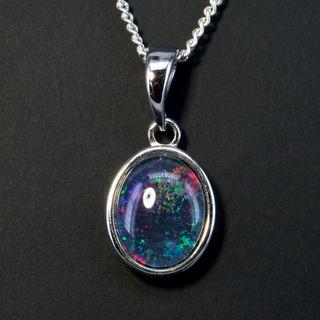 Sterling Silver Triplet Opal Pendant