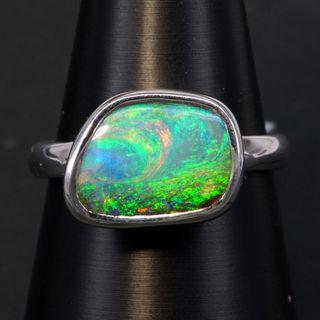 Sterling Silver Boulder Opal Ring