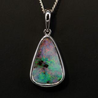 Sterling Silver Boulder Opal Pendant