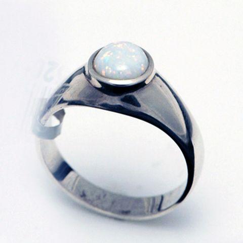Sterling Silver Light Opal Ring