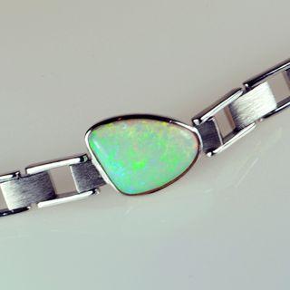 Sterling Silver Light Opal Bracelet