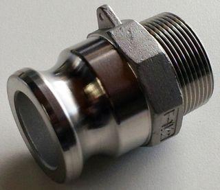 "Camlock F - Adaptor 1/2"" 15mm (s/s)"