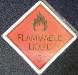 Flammable Liquid 3 Metal Sign (30x30cm)