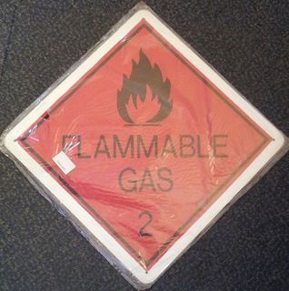 Flammable Liquid 2 Metal Sign (30x30cm)