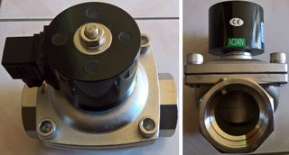 "Solenoid Vlv (1"" 240v) N Closed - S/s"