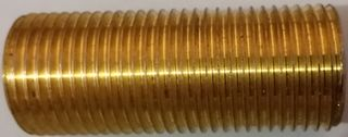 "All Thread 1"" X 6"" L - Brass"