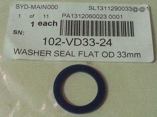 Washer Seal Flat Od 33mm Id 24mm