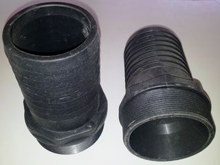 "Hose Tail Bsp 2"" (50mm) - Plastic"
