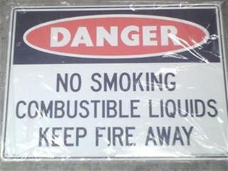 Sign - Danger Combustible Lqd - Metal