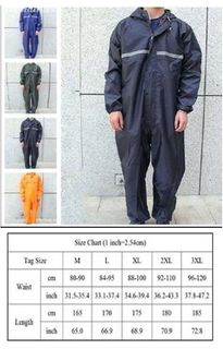 Rainproof Overalls - Various Sizes