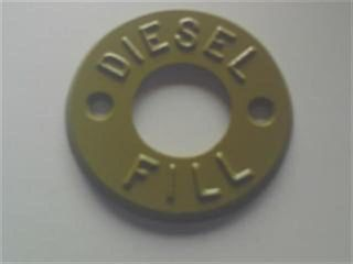 Fill Marker  - Diesel (tan) - Metal