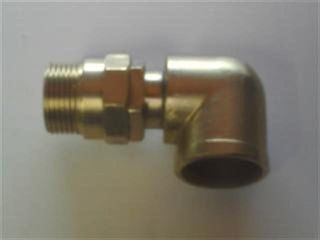 Reel Swivel 90° 1in M/f 3000psi - Brass
