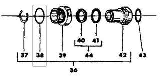 O-ring - Z V A (unleaded) Swivel