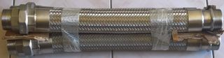 38x450 Stainless Steel Flex Male X Male