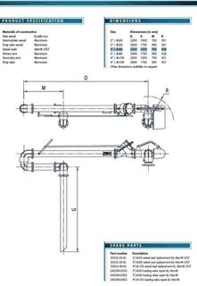 Top Loading Arm 3""