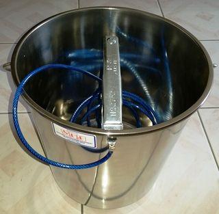 Static Earthing Bucket 16l S/s