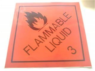 Flammable Liquid 3 S/a Sign (30x30cm)