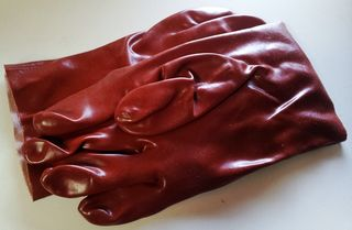 Gloves Red 27cm Gen. Purpose Smooth -pvc