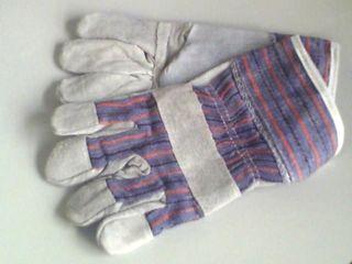 Gen Purp Work Glove-leather/candy Stripe