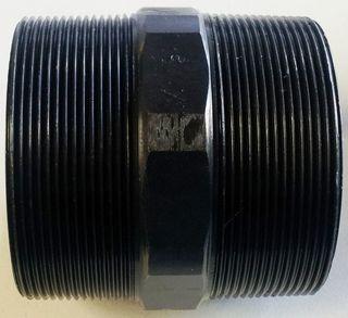 "Hex Nipple 3"" (80mm) - Black"